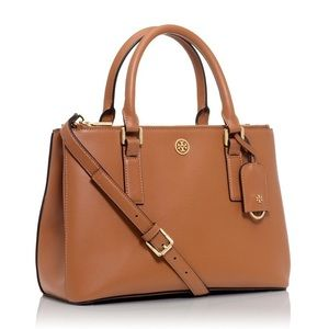 Tory Burch Brown Robinson Purse